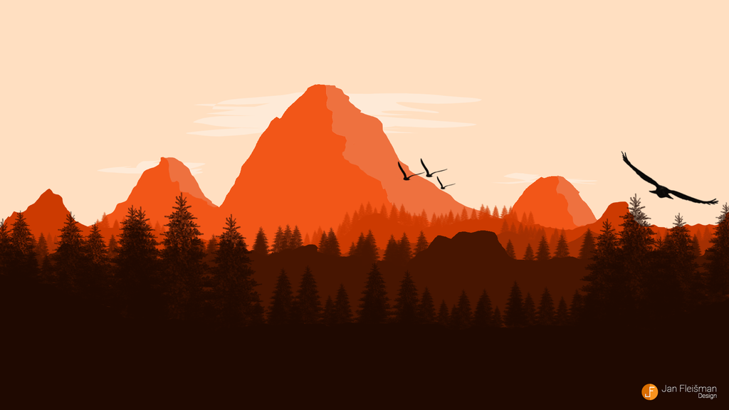 flat landscape wallpaper by edicz on deviantart my