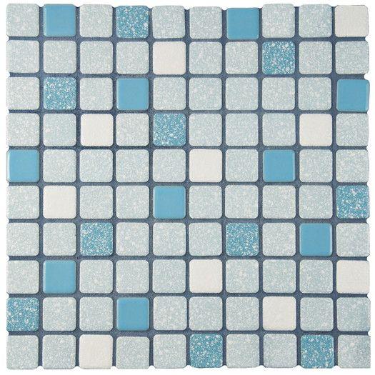 Elitetile Minerva 1 Quot X 1 Quot Porcelain Mosaic Tile In Blue Porcelain Mosaic Porcelain Mosaic Tile Mosaic Floor Tile