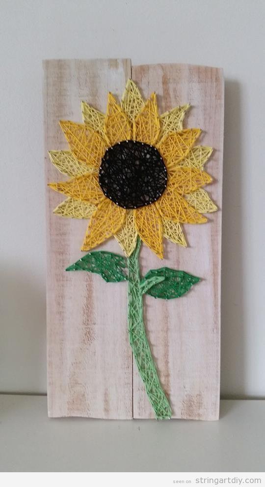 Sunflower String Art : sunflower, string, String