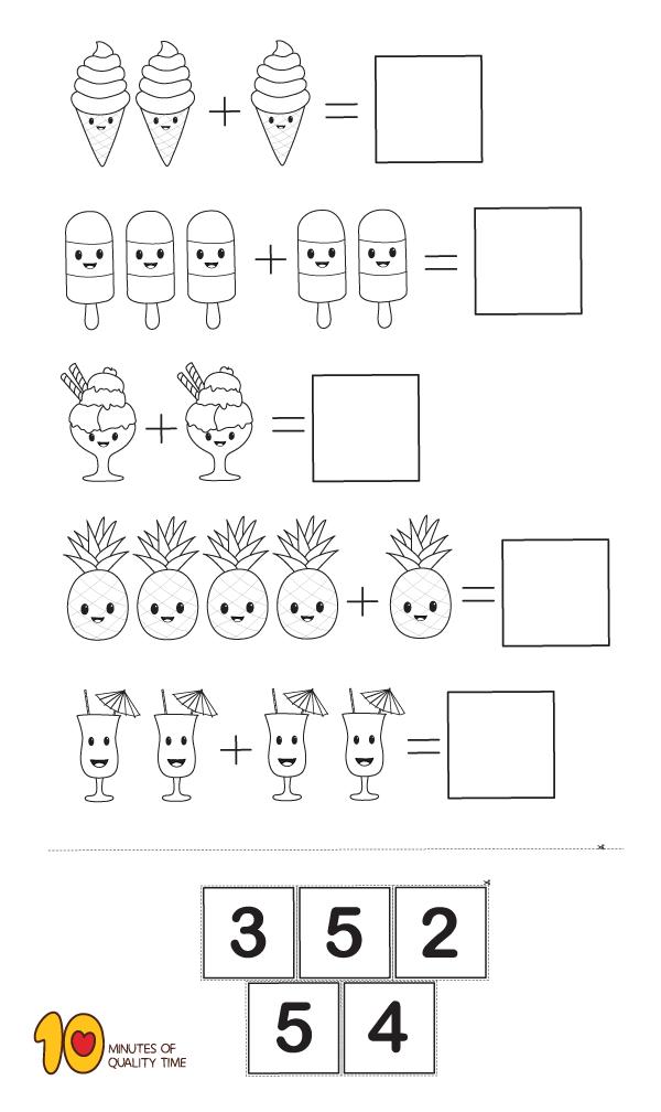 Math For Kindergarten Simple Addition Kindergarten Math Worksheets Preschool Math Worksheets Kindergarten Math Addition