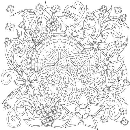 Image result for how to draw henna designs step by step | Plantillas ...