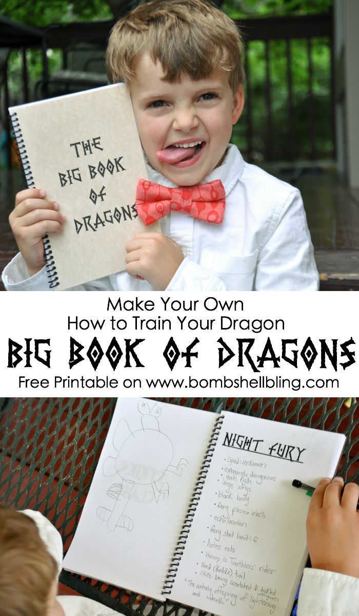 Make Your Own How To Train Your Dragon Big Book Of Dragons Free