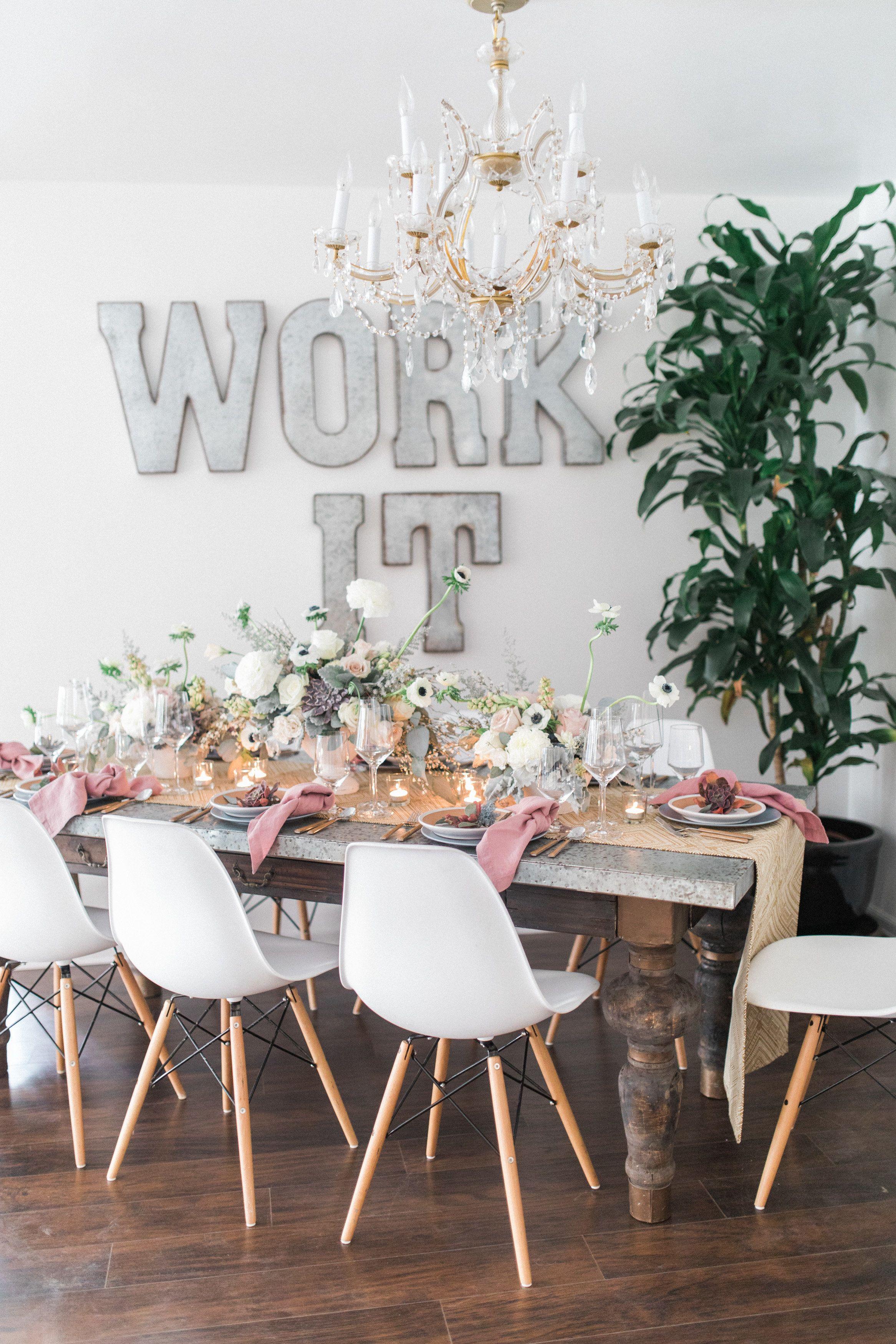 Party Pleasers Event Rental Co Pop Up Showroom zinc top wood