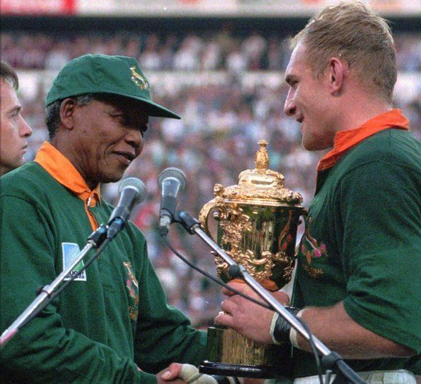 South Africa Recalls The Birth Of The Rainbow Nation Rugby World Cup Nelson Mandela Nelson Mandela Day