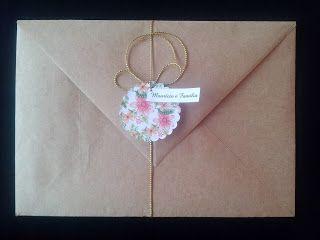 Convite Floral com Envelope Rústico