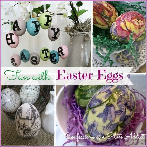 """Can do this in one night!  Quick and easy that's for me.  Could also do a wreath with them and add """"SPRING"""" on the other side of the eggs!  Double duty"""