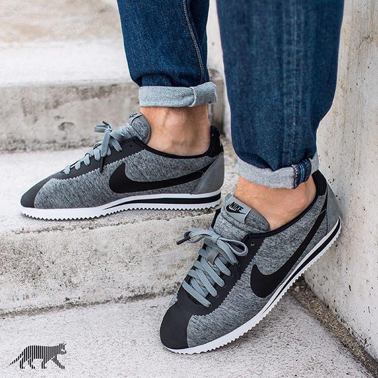 huge selection of 3979e 01c55 Nike Cortez Tech Pack  Tumbled Grey Black