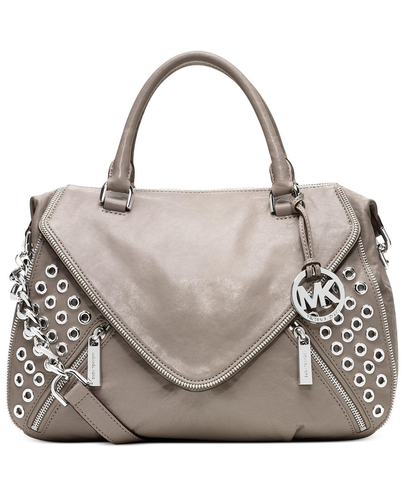 MICHAEL Michael Kors Handbag, Odette Grommet Satchel - Handbags & Accessories - Macy's