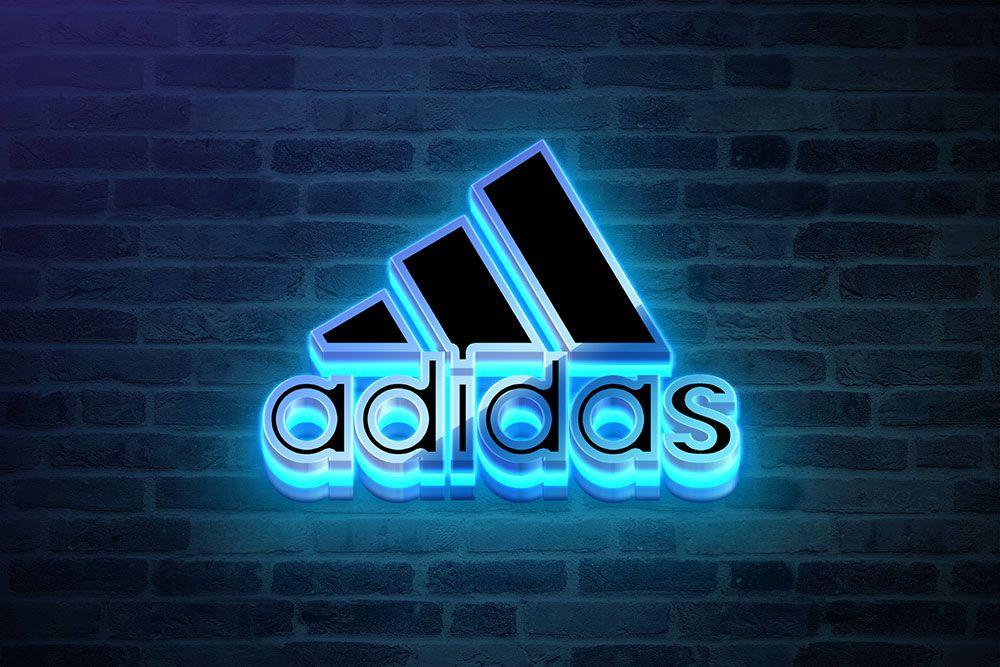 Download This Free Neon Logo Mockup in PSD 그래픽, 그래픽 디자인