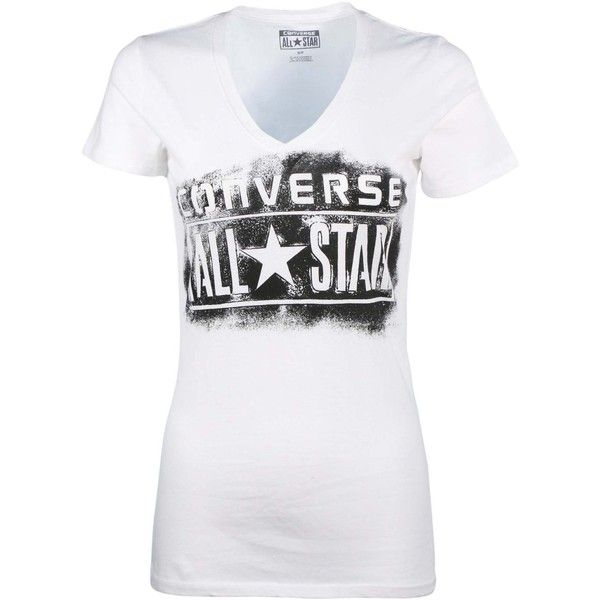 a77073c387b2 Converse Women s All Star V-Neck T-Shirt ( 20) ❤ liked on Polyvore  featuring tops