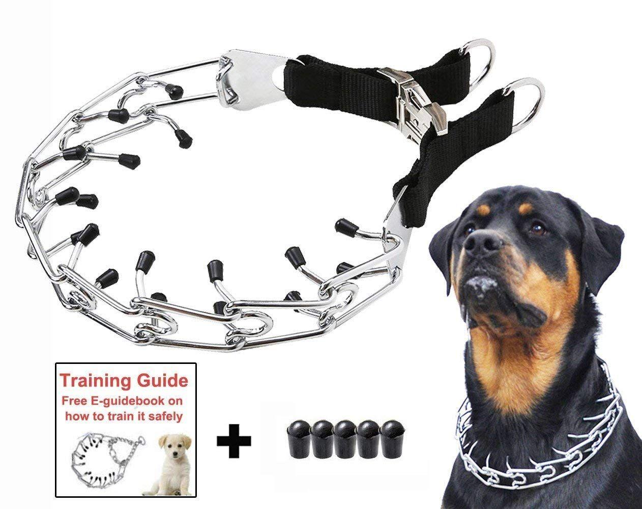 Mayerzon Dog Prong Training Collar Stainless Steel Choke Pinch