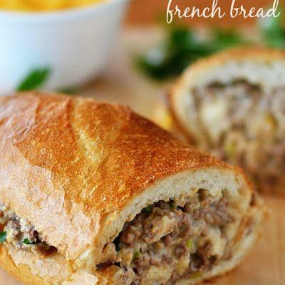 Stuffed French Bread Recipe Recipe Recipes Ground Beef Recipes Yummy Food