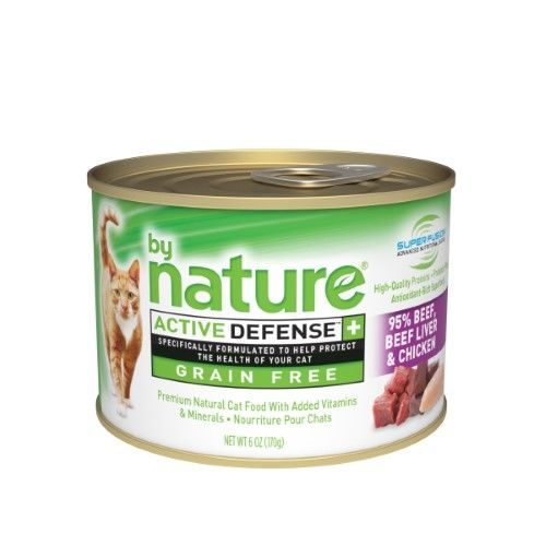 By Nature 95 Beef Beef Liver Chicken Recipe Canned Cat Food 6