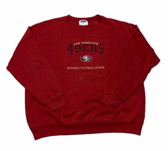 Vintage 90s San Francisco 49ers Crewneck Sweatshirt Mens Size Large