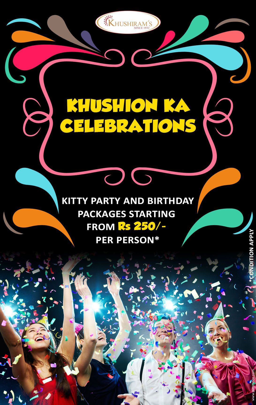 Celebrate your Birthday party Kitty party With us Package start