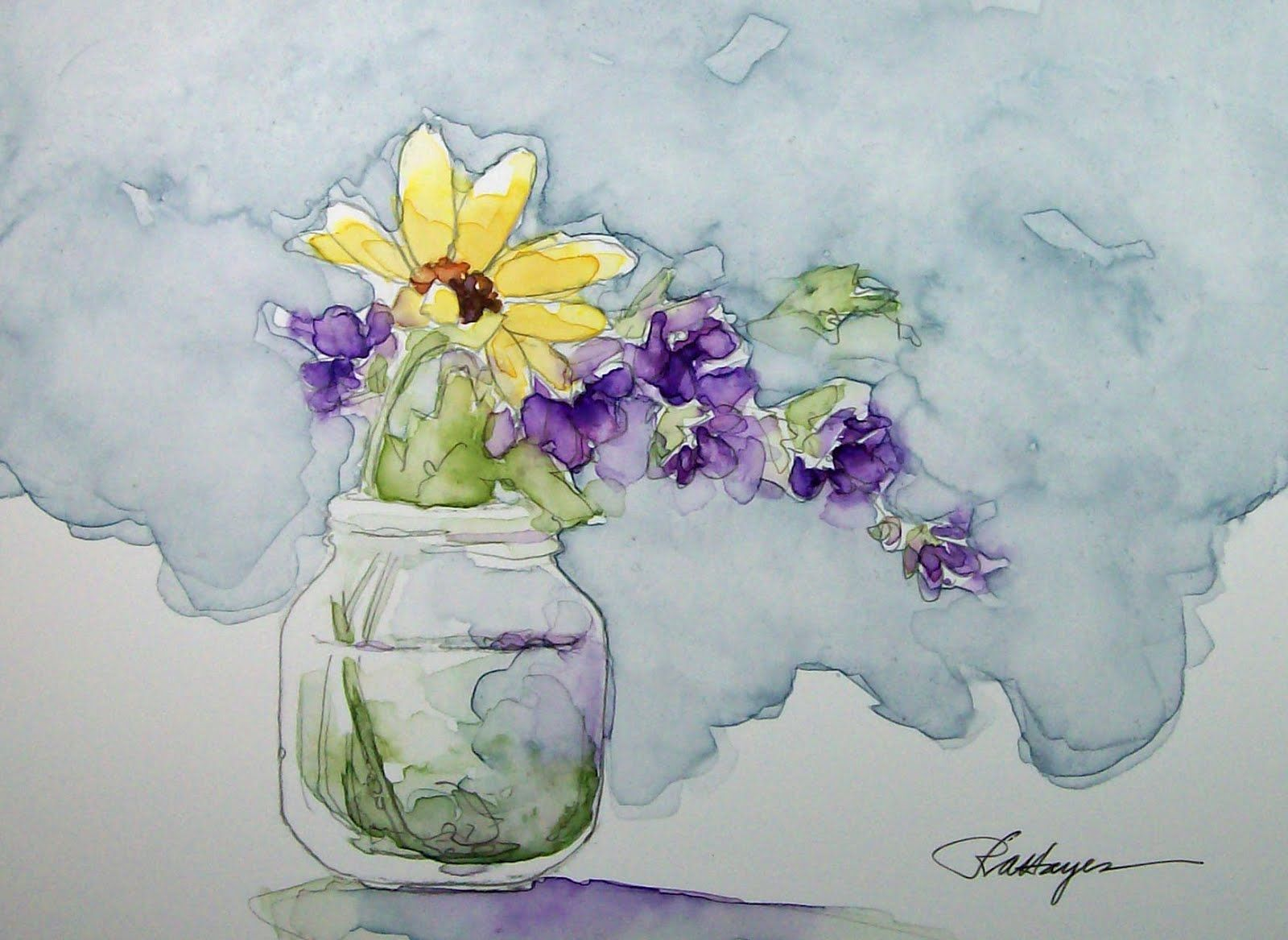 Watercolor painting watercolor flowers flower art flower - Image Detail For Daily Watercolors Floral Watercolor Painting