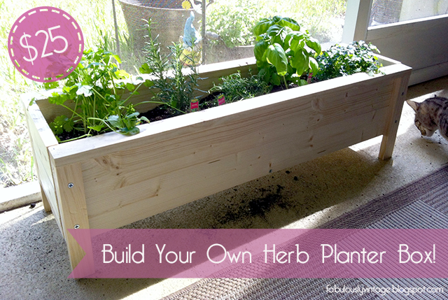 Herb Planter diy herb planter box -- $25 | planters, diy and crafts and herb