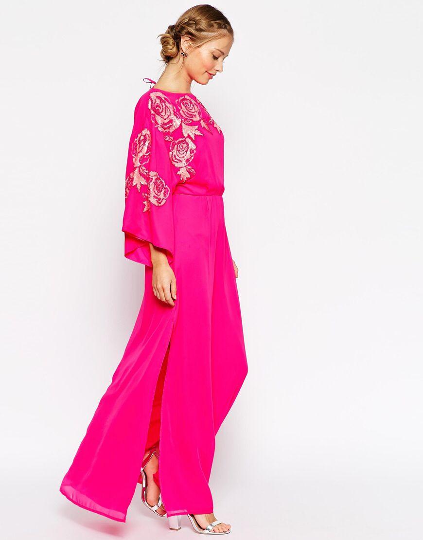 Kimono bright floral bodice maxi dress pajama nights or favorite