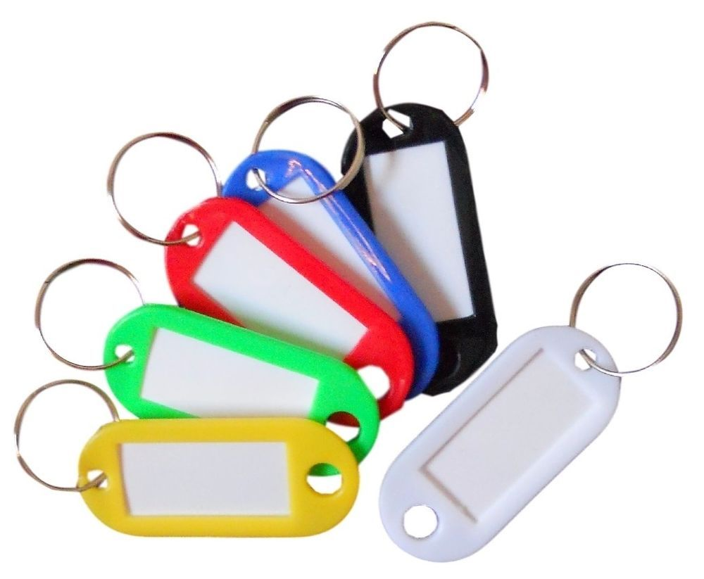 Details About New 5 50pcs Keyring Blank Hotel Insert Flat Standard Keychain Black Red Blue Uk Red Blue Ebay Blue