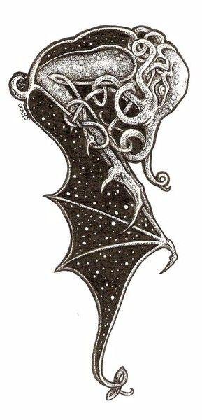 cthulhu by salshep | Tattoos | Tatuajes, Cthulhu, Arte macabro