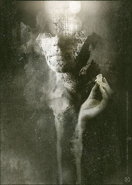 Dark Mixed Media Artworks by Jarek Kubicki http://www.cruzine.com/2013/03/07/impressive-digital-art-jarek-kubicki/