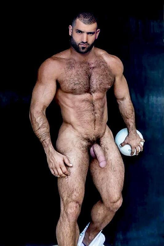 Hairy muscular hunk naked, elizbeth berkley naked