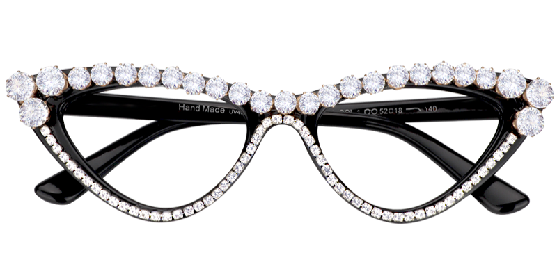 7202311eb7 Get  10 off Andy Black Cat Eye Glasses With Rhinestones when you spend  99  at Voogueme with a coupon from Coupon Carnival.