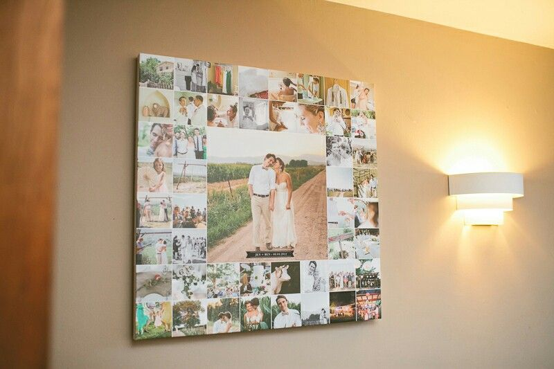 Picture Collage Wedding Display