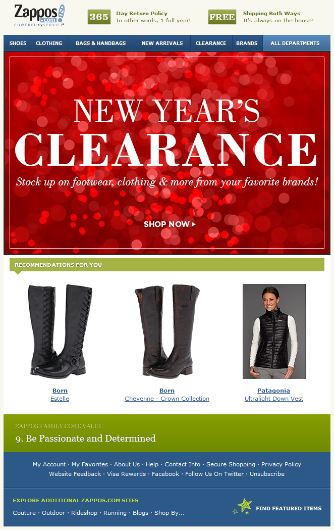 Zappos  New YearS Clearance Red And White Twinkle Imagery