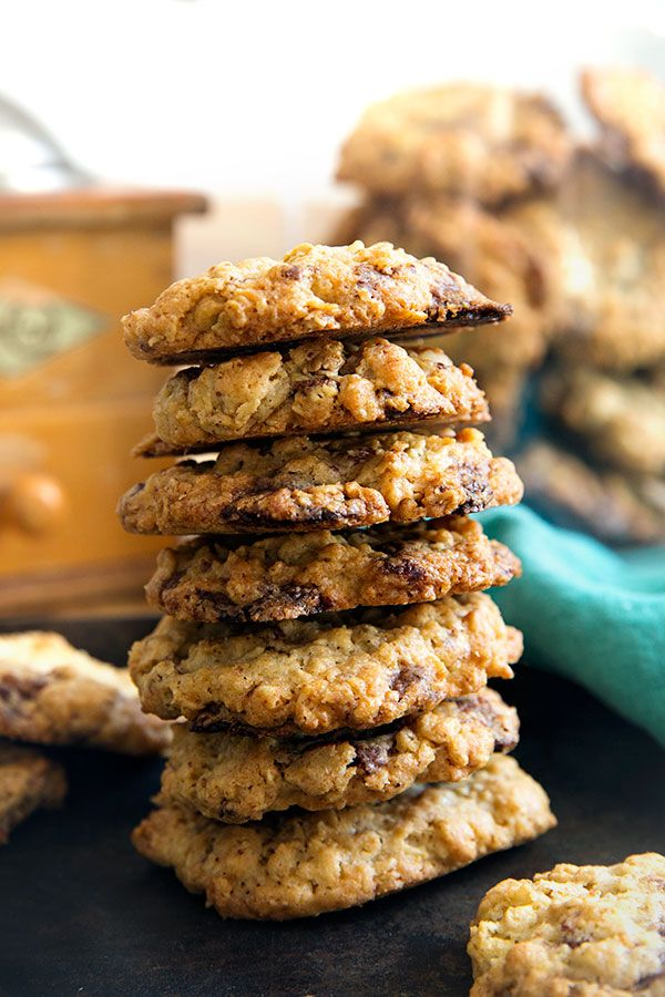 Knusprige Haferflocken-Kekse mit Schoko - Madame Cuisine #nutellakekse
