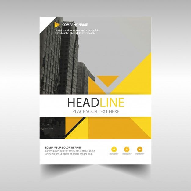 Yellow Creative Annual Report Book Cover Template Free Vector