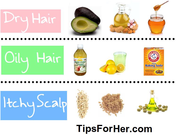 DIY Hair Masks for itchy scalp, dry and oily hair. Oily