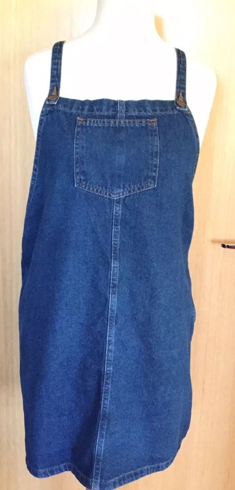 brand quality outstanding features hot product Matalan Ladies Dungaree Pinafore Dress 16 Denim Casual Baggy ...