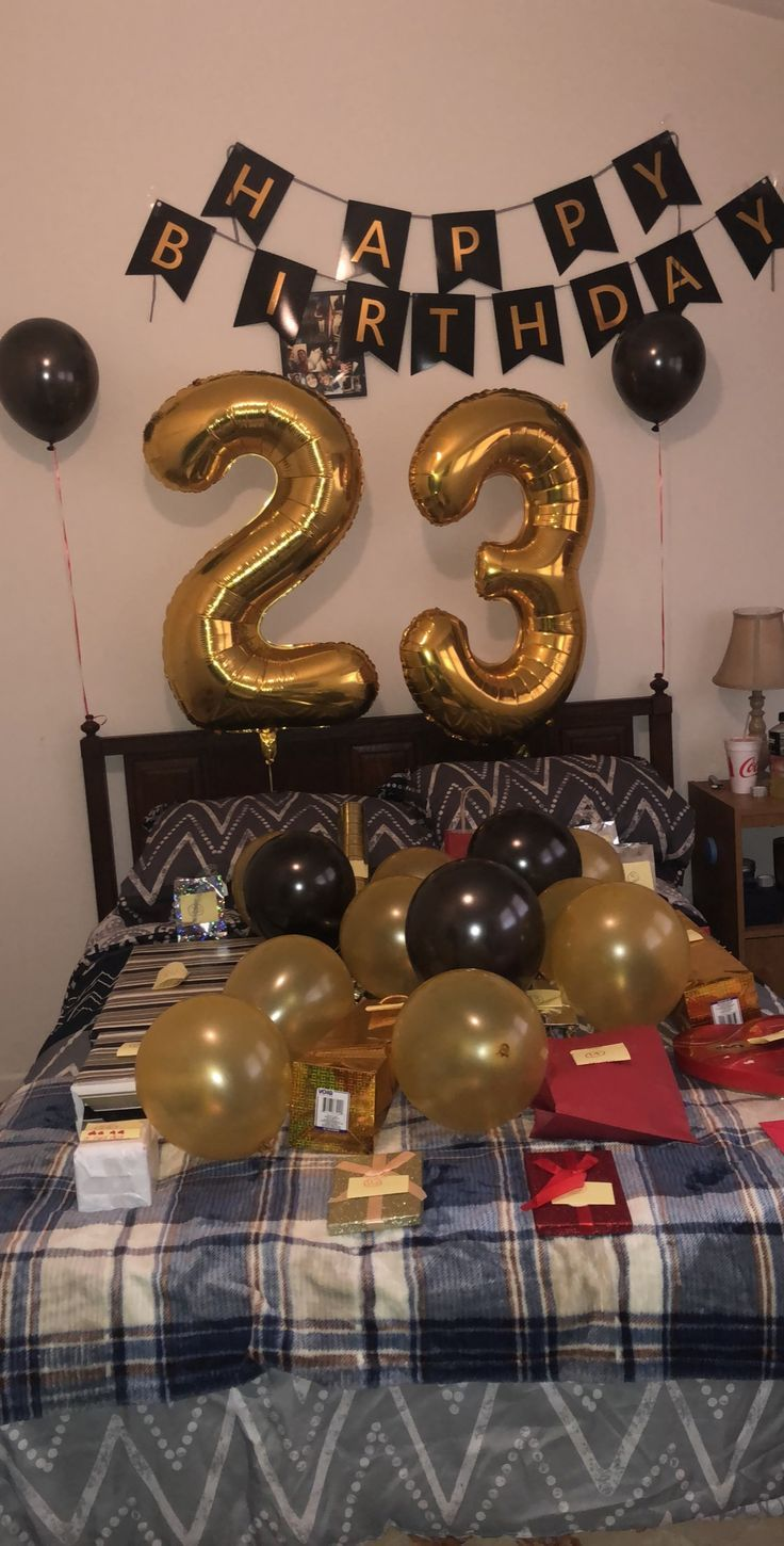 23rd Birthday for boyfriend 23 gifts with a note on each gift – #23rd #Birthday …