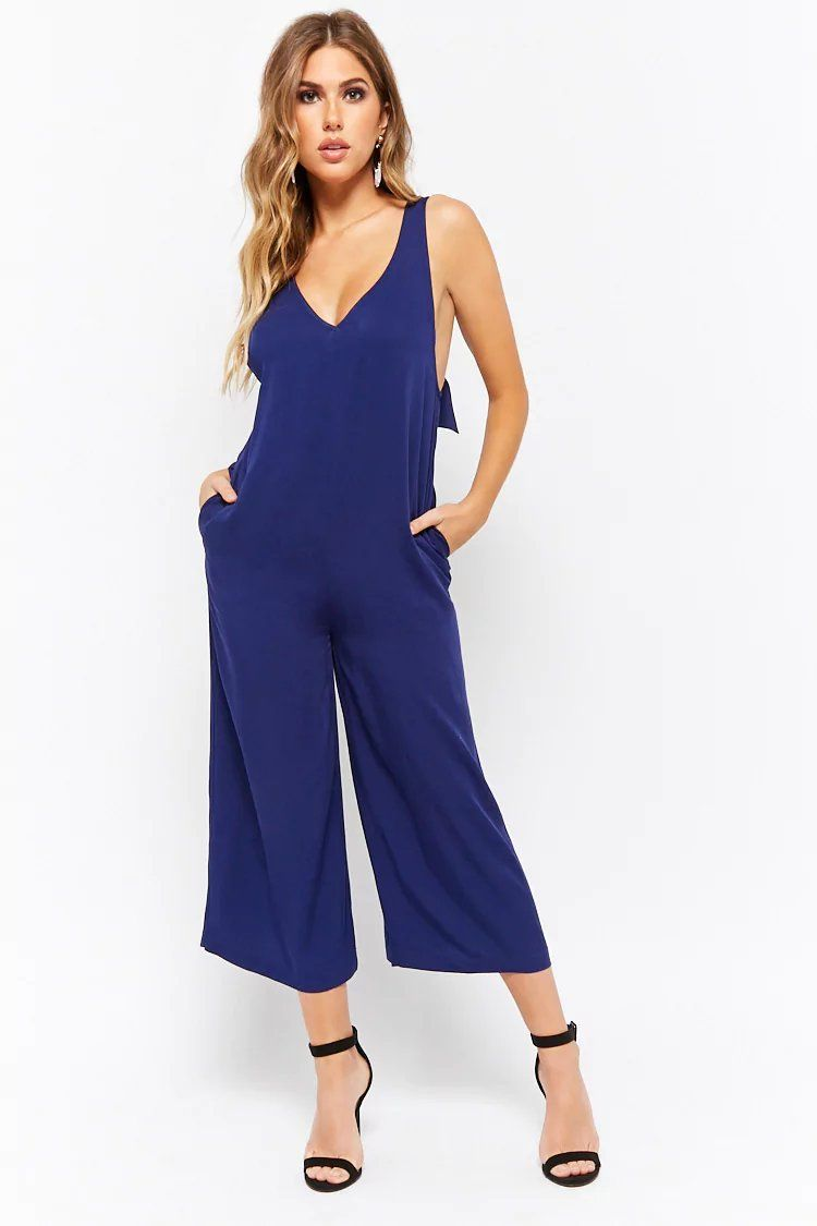 3d3330dd31b Product Name V-Neck Culotte Jumpsuit
