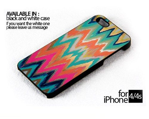 AJ 800 Dripping Painted Chevron - iPhone 4/4s Case | FixCenter - Accessories on ArtFire