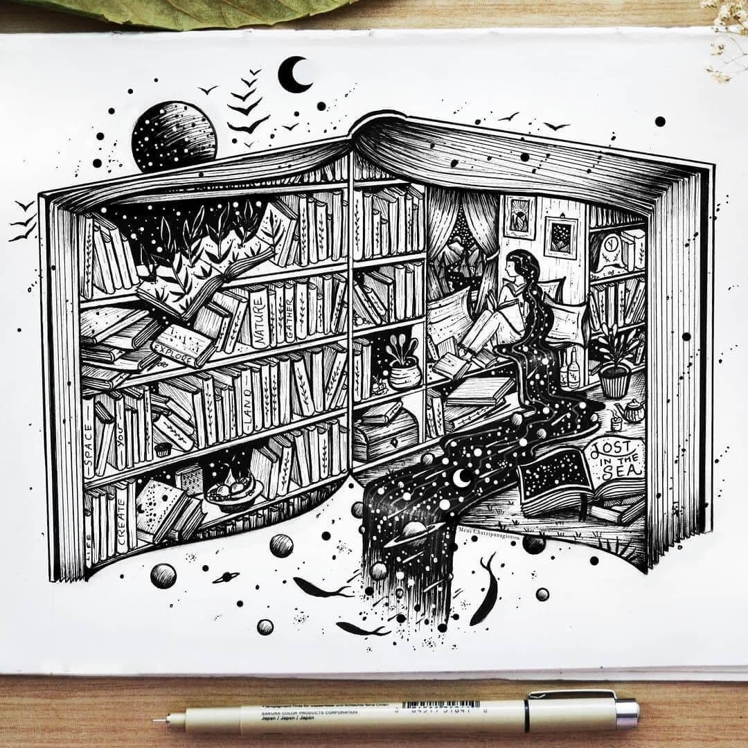 Fantasy and Surreal Ink Illustrations#fantasy #illustrations #ink #surreal