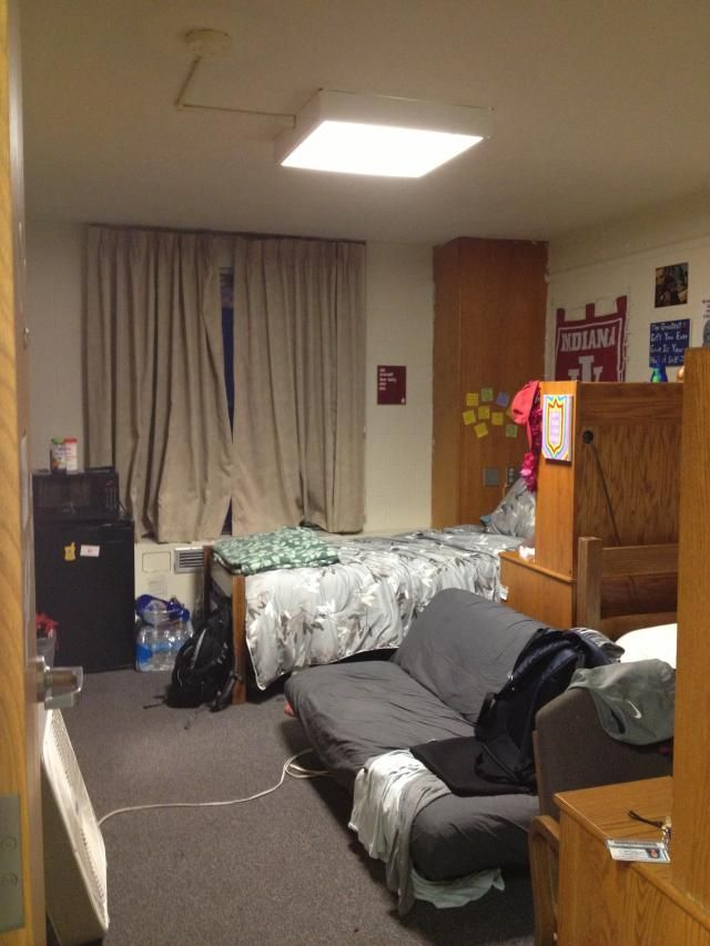 Iu cribs teter edition we are iu dorm room pinterest crib and dorm for Living room center bloomington indiana