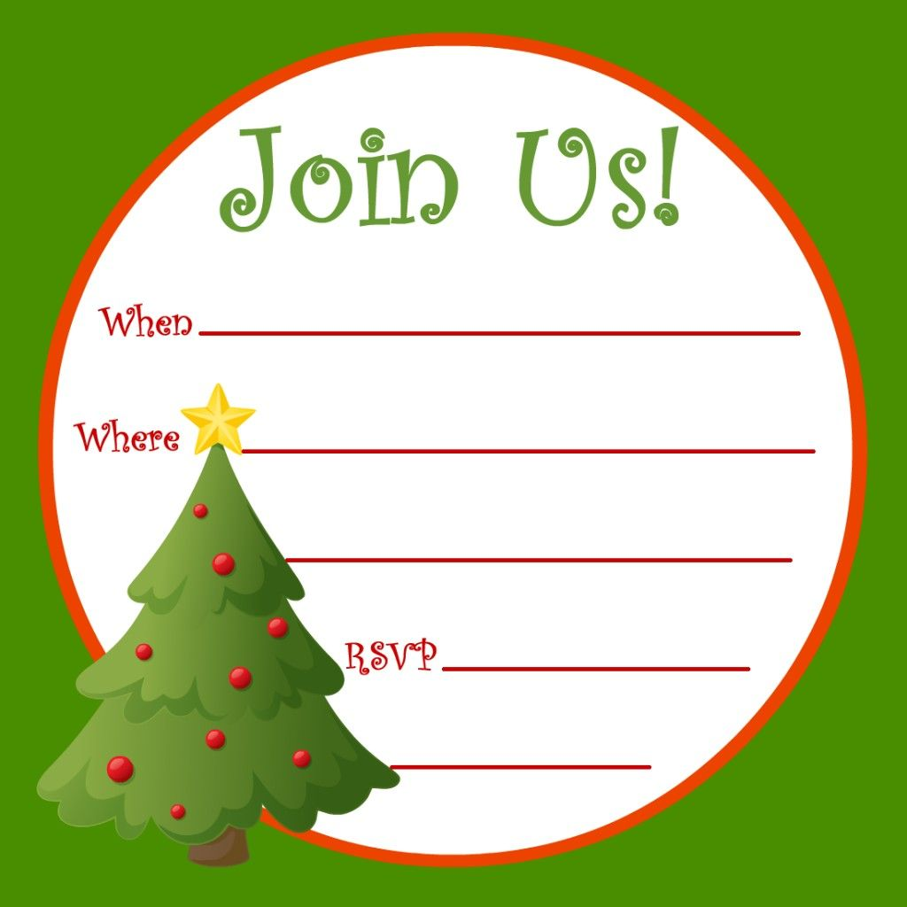 Free Printable Christmas and New Year Party Invitations | Party ...