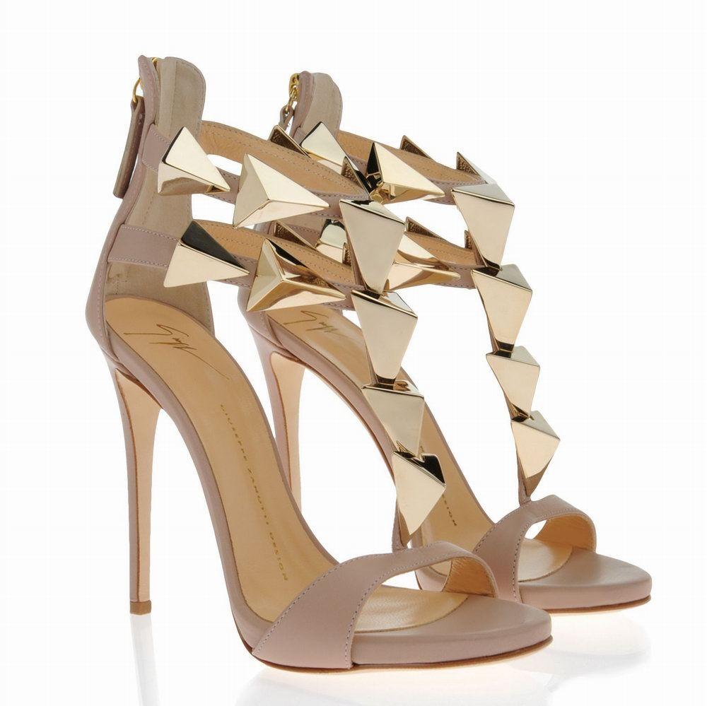 Giuseppe Zanotti Designer Shoes, Suede Pump w/Golden Heel