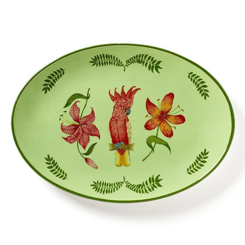 Parrotdise Oval Platter
