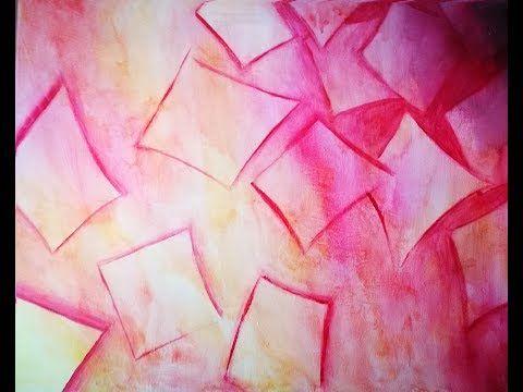 Rapide Et Facile Une Peinture Abstraite En Moins De 30min Envies