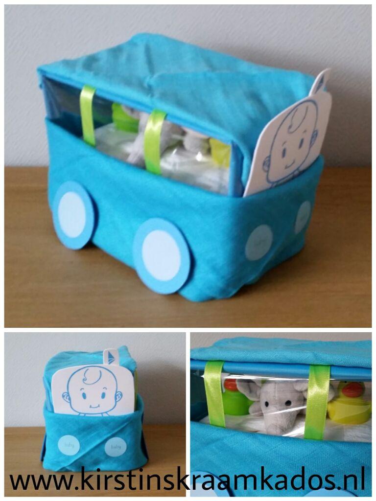 Bus van luiers blauw
