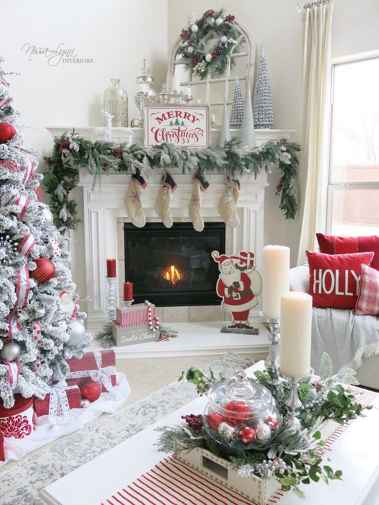 Beautiful My Winter White Living Room U2014 By Nissa Lynn Interiors Christmas, Santa  Clause, Magical, Fireplace Decor, Christmas Tree Decorating