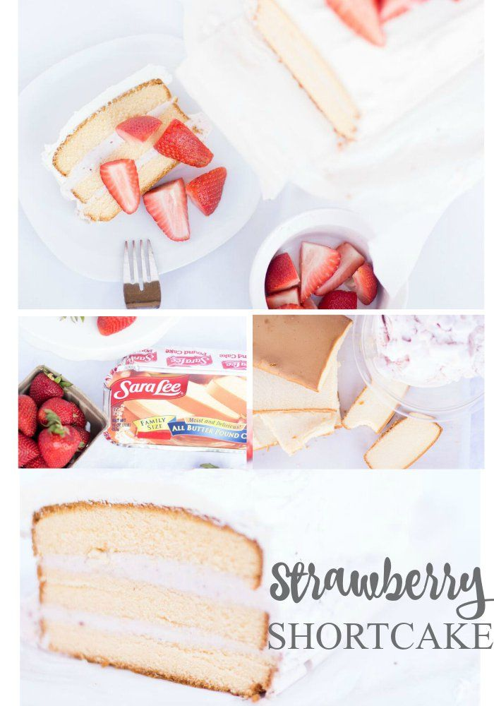 Strawberry Shortcake Recipe Using Yummy Sara Lee Pound Cake Ad