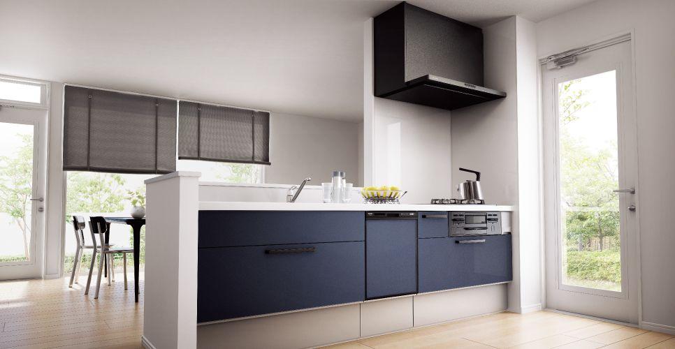 ラクシーナ プラン例 型造作対面プラン 写真01 システムキッチン