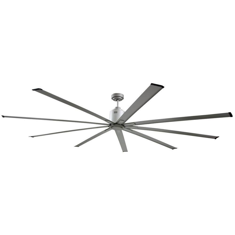 Big Air 72 In Indoor Metallic Nickel Industrial Ceiling Fan With