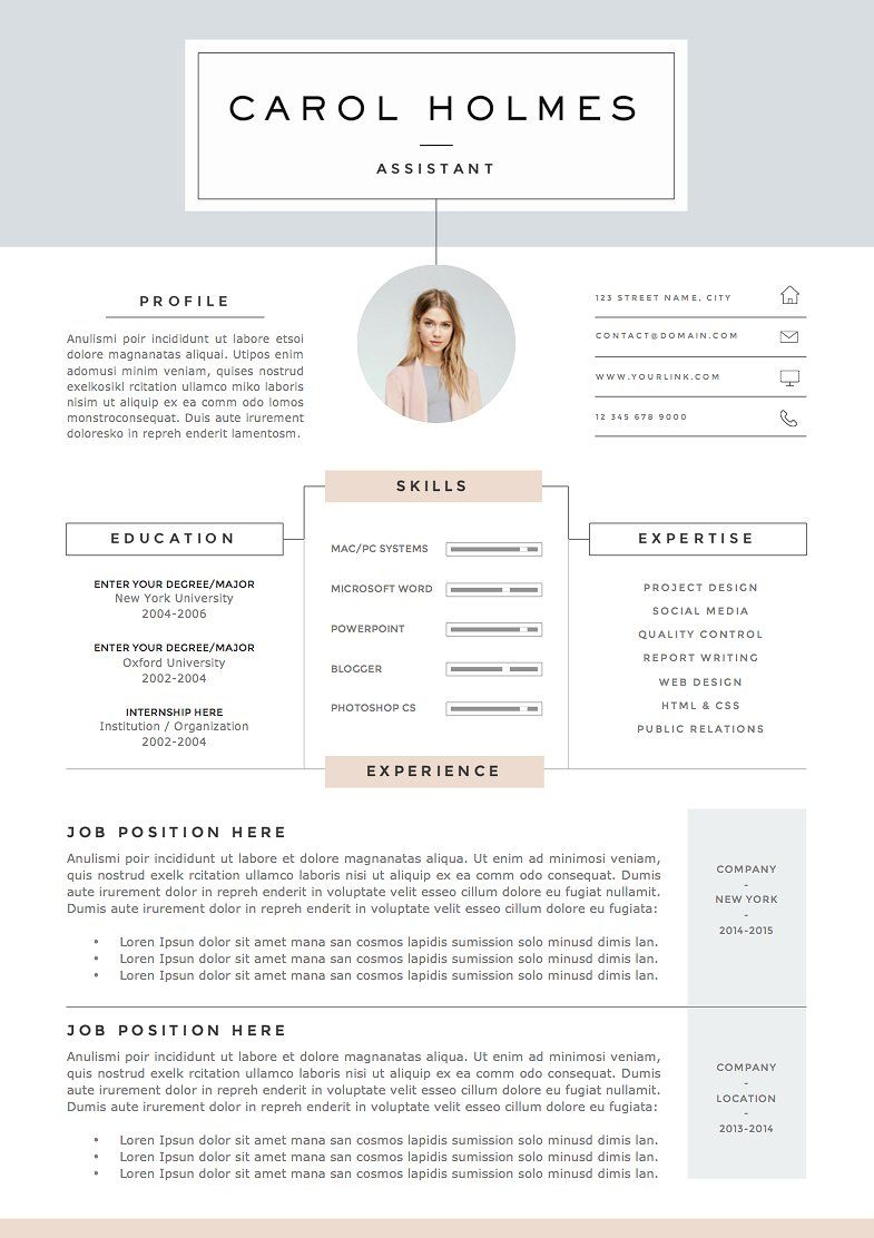 Resume Template 5 pages | Milky Way by The.Resume.Boutique on ...