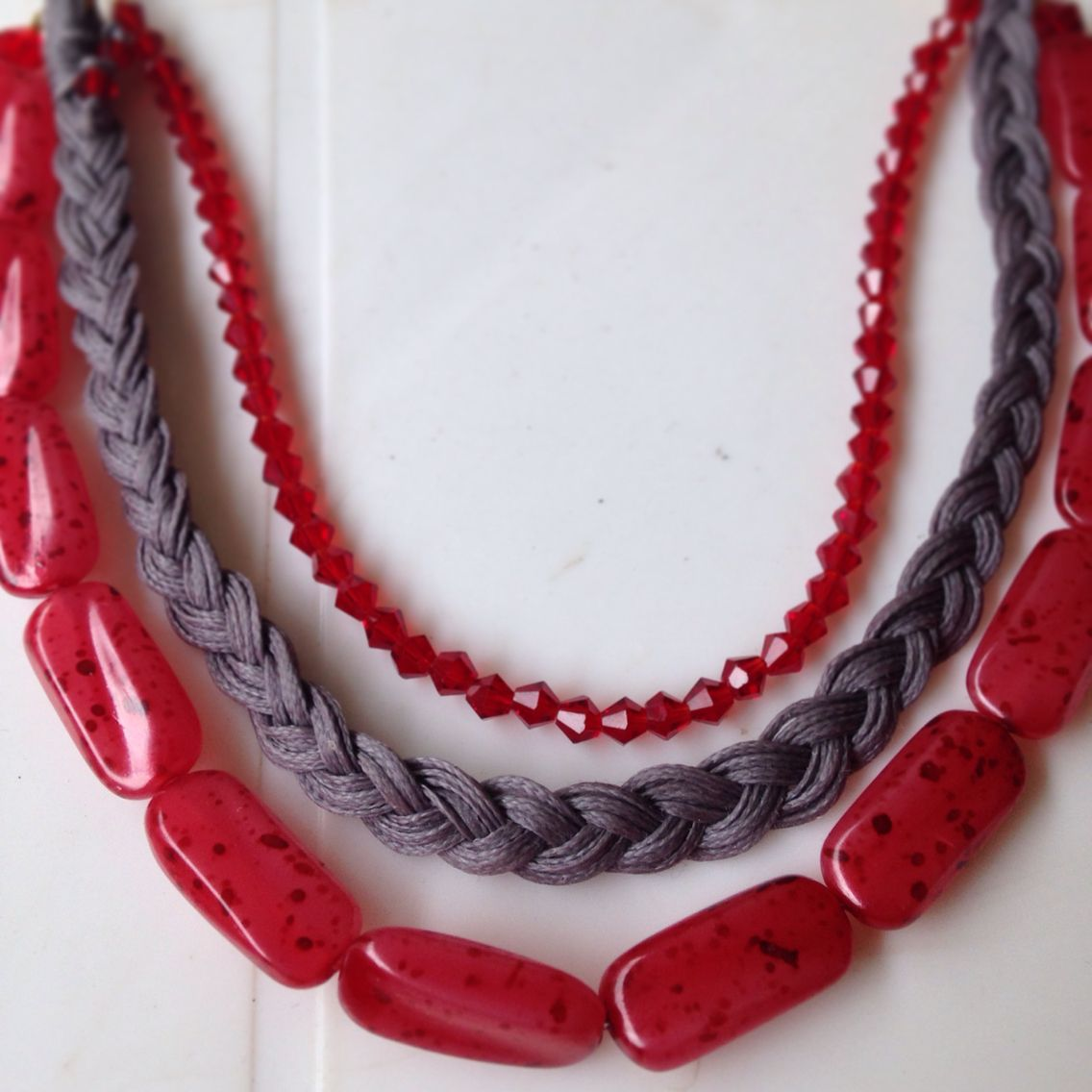 Triple necklace handmade