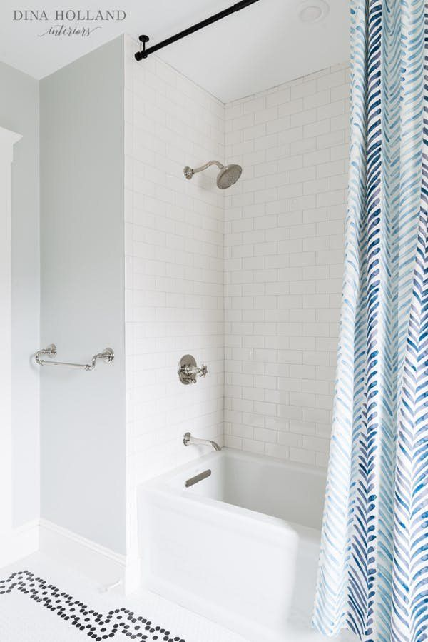 Floor To Ceiling Shower Curtain Using A Ceiling Super
